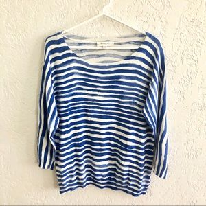 Vince Camuto Watercolor Striped Sweater M
